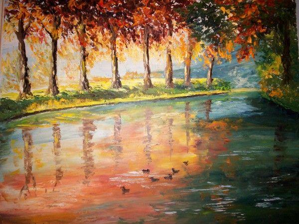 Peinture du Canal du Midi